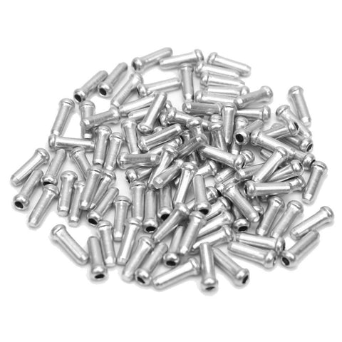 100 Pcs Alloy Road Mountain Bicycle Bike Brake Cable Cap End Tips Crimp Silver