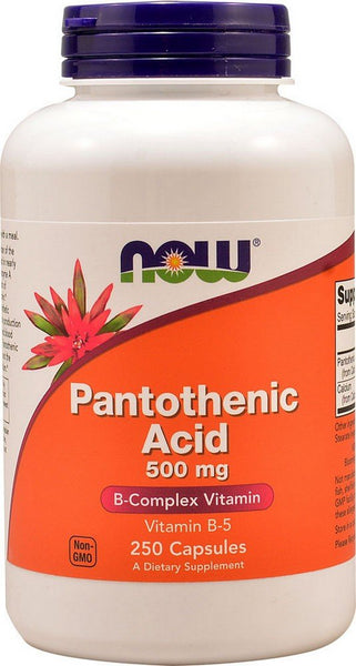 NOW Pantothenic Acid 500 mg,250 Capsules 250