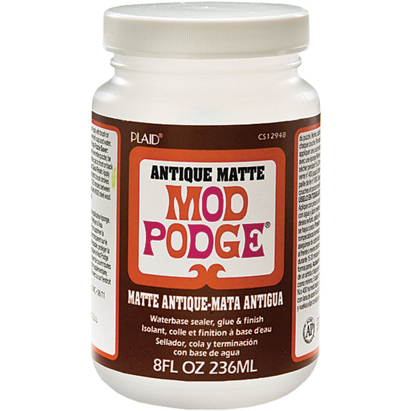 Mod Podge Waterbase Sealer, Glue and Finish (8-Ounce), CS12948 Antique Matte