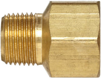 "Anderson Metals Brass Pipe Fitting, Adapter, 3/8"" Male Pipe x 1/2"" Female Pipe 3/8"" x 1/2"""