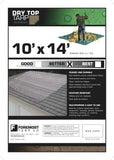 10' x 14' Dry Top Brown/Green Reversible Full Size 7-mil Poly Tarp item #110142 10 Feet x 14 Feet