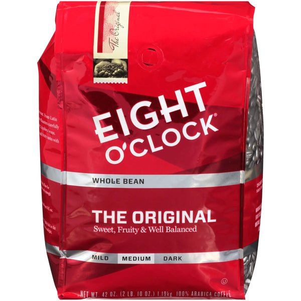 Eight O'Clock Whole Bean Coffee, The Original, 42 Ounce Original, Whole Bean Extra Large