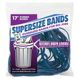 "Alliance Rubber 08995 SuperSize Bands, 17"" Blue Large Heavy Duty Latex Rubber Bands (4 ounce resealable bag contains approx. 12 bands) 4-Ounce Bag 17 x 1/4"