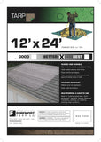 12' x 24' Dry Top Brown/Green Reversible Full Size 7-mil Poly Tarp item #112245 12 Feet x 24 Feet