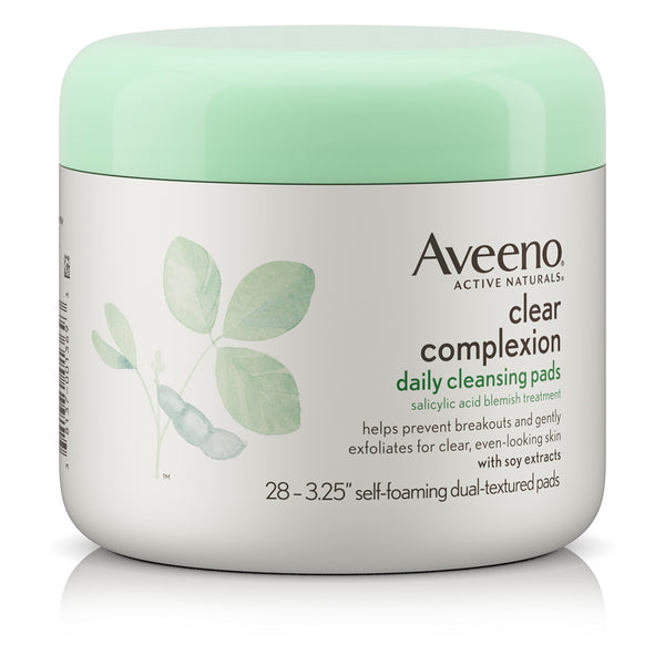Aveeno Clear Complexion Daily Facial Cleansing Pads with Salicylic Acid Blemish Treatment 28 Count