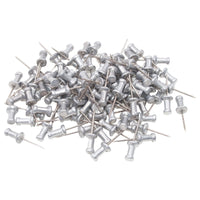 ADVANTUS Aluminum Head Push Pins, Steel 5/8-Inch Point, Silver, 100 per Box (CPAL5) 5/8 Inch