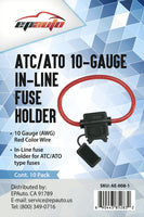 10 Pack - EPAuto ATC / ATO 10 Gauge 30 AMP In-Line Fuse Holder
