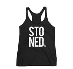 Stoned Co Logo Women's Racerback Tank- Black