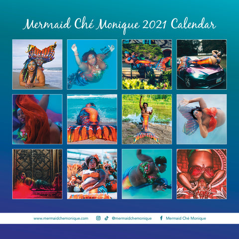 Mermaid Chè Monique 2021 Calendar
