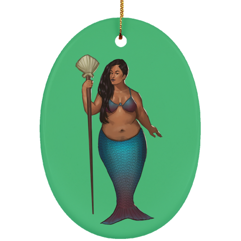 Selena Ceramic Oval Ornament