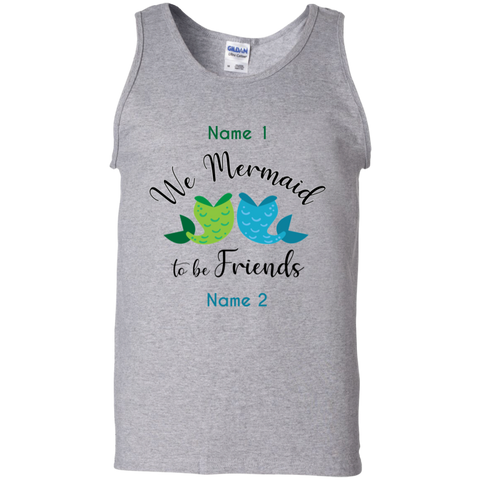 Personalized We Mermaid to Be Friends Unisex Racerback Tank