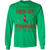 Mermaid Ugly Christmas Sweater, Glory Unisex Long Sleeve T-Shirt