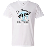 Personalized Mermaid to be Friends Premium Unisex V-Neck