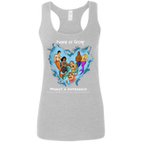 Personalized Merfolk Make a Difference Women's Racerback Tank