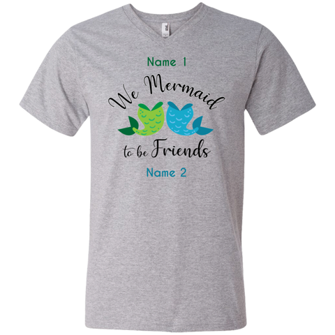 Personalized We Mermaid to be Friends Premium Unisex V-Neck