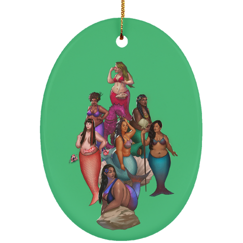 Squad Ceramic Oval Ornament