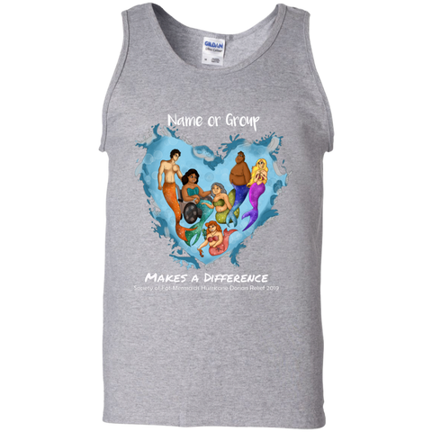 Personalized Merfolk Make a Difference Unisex Tank