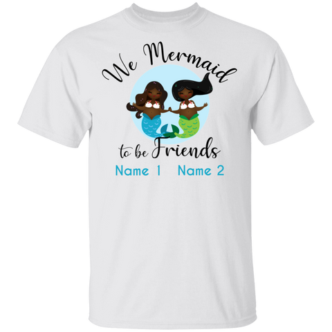 Personalized Black Mermaids Mermaid to be Basic Unisex T-Shirt