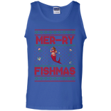 Mermaid Ugly Christmas Sweater Unisex Cotton Tank Top