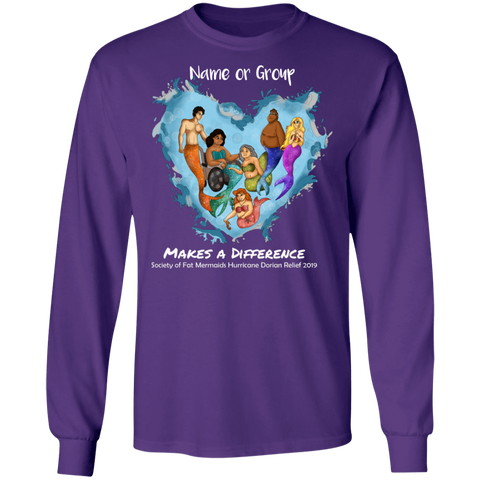 Personalized Long Sleeve Merfolk Make a Difference Dorian Tee