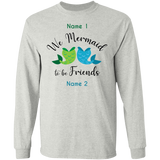 Mermaid To Be Friends Personalized Tails Unisex Long Sleeve T-Shirt