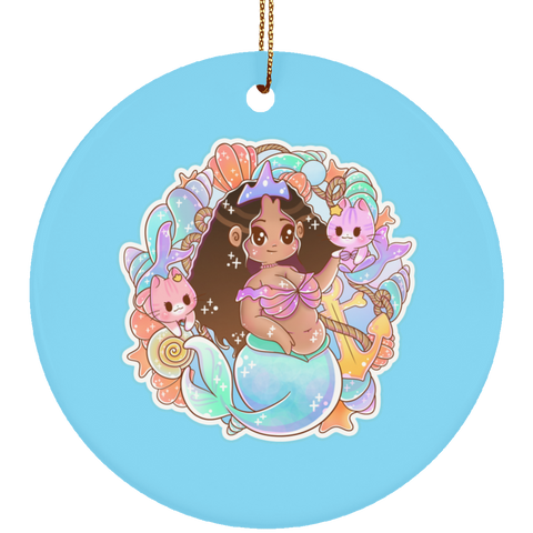 Kawaii Cutie Ceramic Circle Ornament