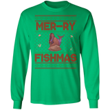 Mermaid Ugly Christmas Sweater LuLu Unisex Long Sleeve T-Shirt