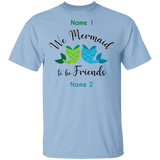 Mermaid To be Friends Tails Personalized Basic Unisex Tee