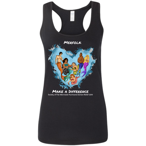 Merfolk Make a Difference Women's Racerback Tank