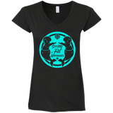 SOFM Signature Blue Women's Fitted V-Neck