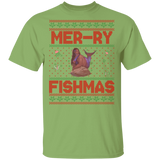 Mermaid Ugly Christmas Sweater LuLu Basic Unisex T-Shirt