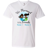 Personalized Black Mermaids, Mermaid to be Friends Premium Unisex V-Neck