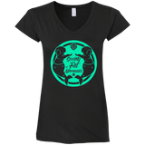 SOFM Signature Green Women's V-Neck