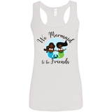 Black Mermaids Mermaid to Be Friends Women's Racerback Tank
