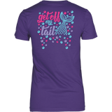 Get Off My Tail Women's Fit Soft Tee: Design on Back
