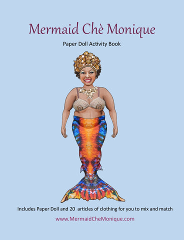 Mermaid Chè Monique Paper Doll