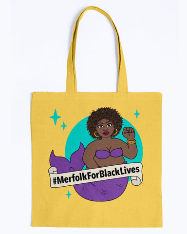 #MerfolkForBlackLives Mermaid Tote