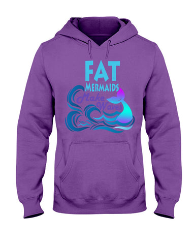 Fat Mermaids Make Waves Hoodie