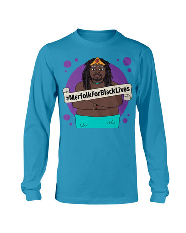 #MerfolkForBlackLives Merman Long Sleeve T-Shirt