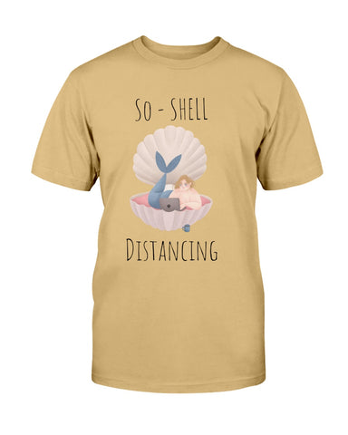 So-Shell Distancing Caffeinated  Basic Unisex Tee