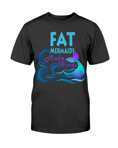 Fat Mermaids Make Waves Basic Unisex Tee