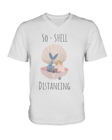 So-Shell Distancing Caffeinated Premium Unisex V-Neck T-Shirt