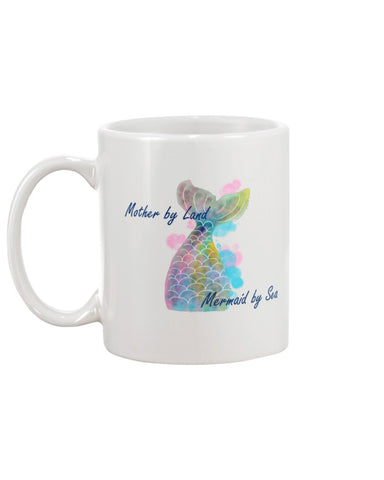 Mother by Land, Mermaid by Sea oversized Mug