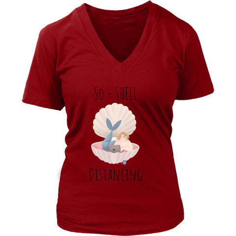 So-Shell Distancing Caffeinated Women's Fit Premium V-Neck Tee