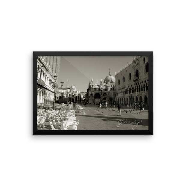Venice in the Morning Framed poster