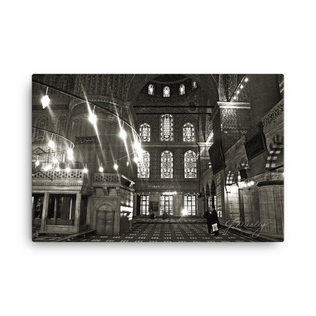 Blue Mosque Art Canvas