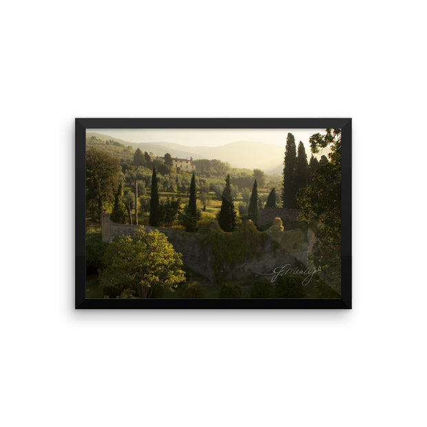 Tuscany Morning Framed poster