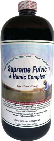 Supreme Humic Fulvic Acid Supplement 32 oz. Bottle