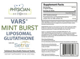 OUT OF STOCK - VARS Liposomal Glutathione - Mint Burst
