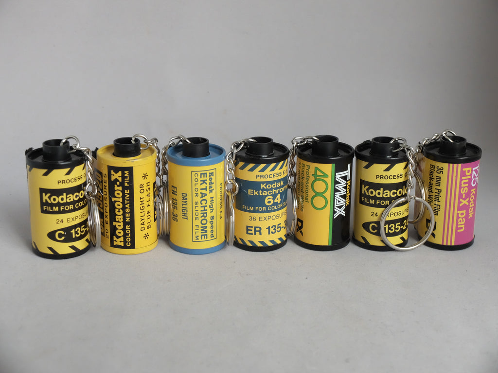 Early Kodak Empty 35mm Film Canister Keychain